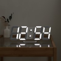 무아스 프리미엄 3D LED 벽시계, 화이트 (TOP 137110685)