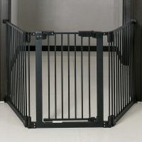 딩동펫 반려동물 접이식 삼각 안전문, 블랙 (TOP 1695083359)