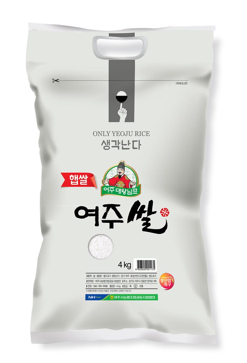 농협 2020년 햅쌀 대왕님표 여주쌀, 4kg, 1개