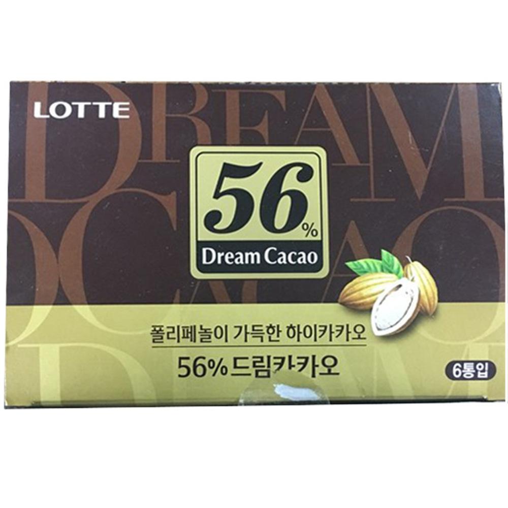 드림카카오 56% 초콜릿, 86g, 6개