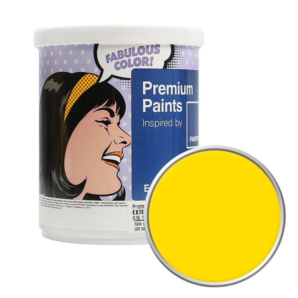 노루페인트 팬톤 외부용 실외 저광 페인트 1L, 13-0858 Vibrant Yellow