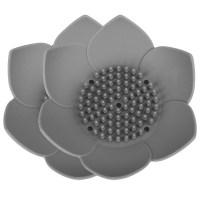 레벤쿠첸 실리콘 꽃 비누받침, 그레이, 2개입 (TOP 63433443)