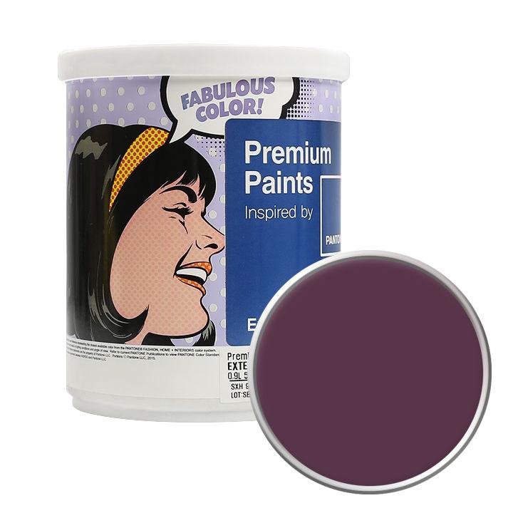 노루페인트 팬톤 외부용 실외 저광 페인트 1L, 19-2315 Grape Wine