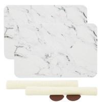 코시나 규조토 욕실매트 + 미끄럼 방지매트 + 사포 M 45 x 35 cm, 유니크대리석, 2세트 (TOP 238360386)