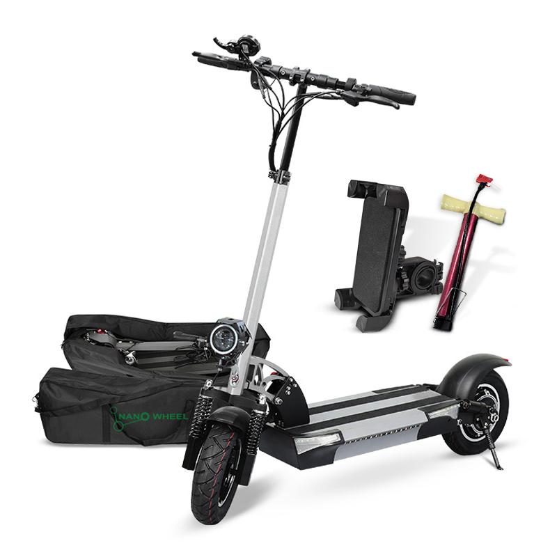 나노휠 전동킥보드 21Ah배터리 + 전용가방 + 휴대폰거치대 + 펌프, NQ-02 PLUS+, 그레이