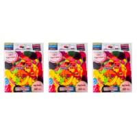 파티쇼 카니발 형광 물풍선 500p, 혼합 색상, 3개 (TOP 273994273)
