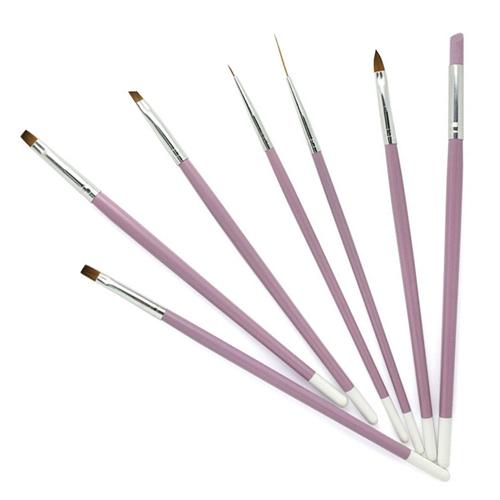 핑크 종합 젤네일 브러쉬 7종 세트, 혼합 색상, 1세트