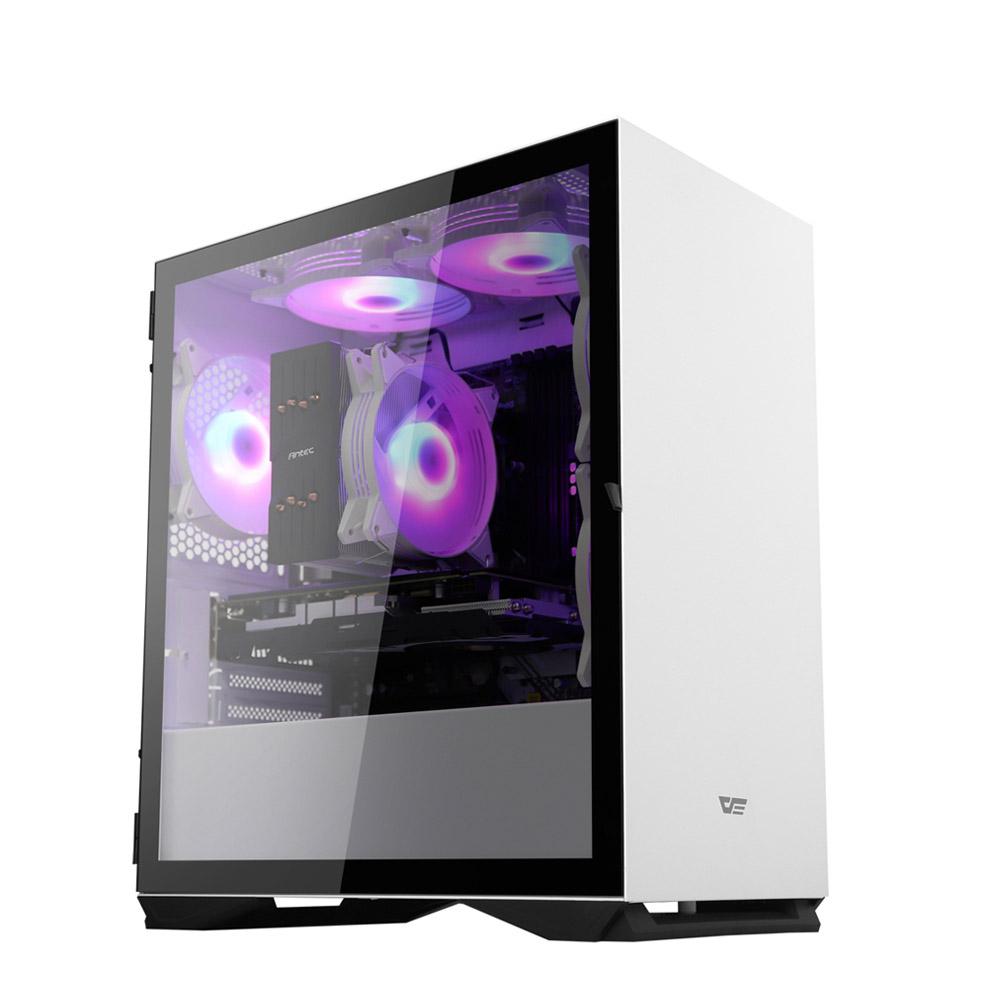 프리플로우 GAMING i5 RGB 화이트 (i5-9400F WIN미포함 삼성 RAM 8GB SSD 120GB GTX1660 6GB), 단일 상품, 기본형