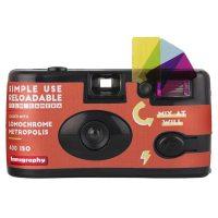 로모그래피 로모크롬 메트로폴리스 심플유즈 다회용카메라 27컷 ISO100-400, 1개 (POP 1279695123)