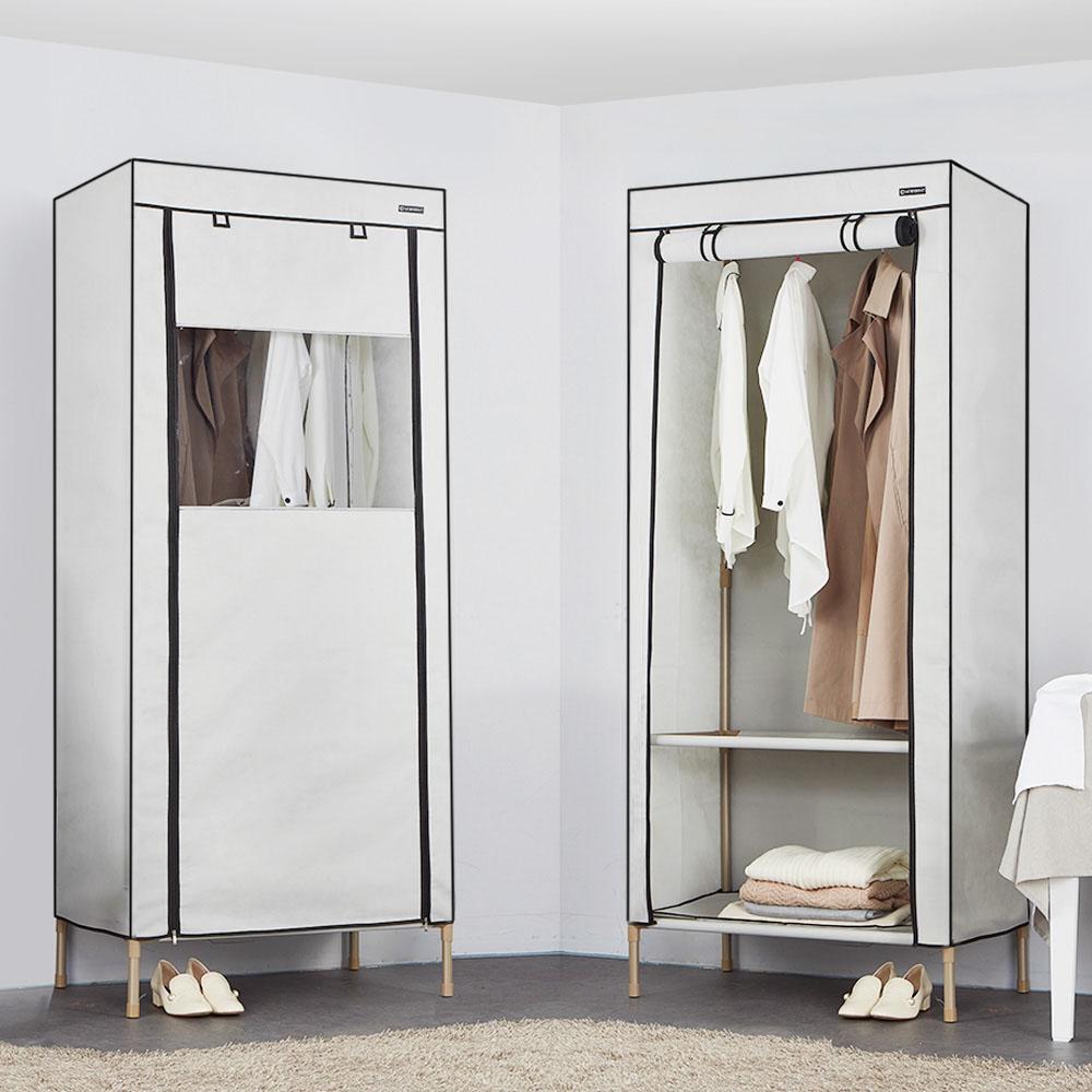 엠에프매직하우스 윈도우 커버옷장 190 싱글 + 고무망치, 라이트그레이