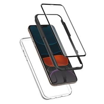 아이폰se2 강화유리 - 신지모루 360도 보호 3D 풀커버 강화유리필름 + 에어클로 케이스, 1세트
