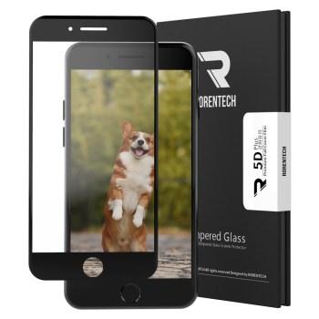 아이폰se2 강화유리 - 로랜텍 5D 강화유리 휴대폰 액정보호필름, 1개