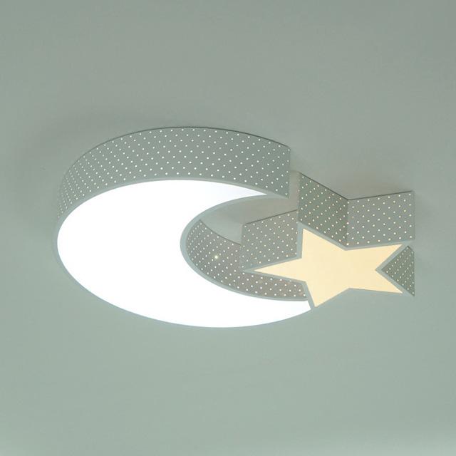 조명보라 LED 달별 투톤 키즈 방등 50W, 화이트