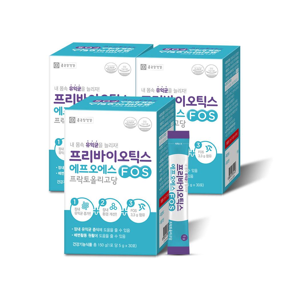 종근당건강 프리바이오틱스 에프오에스, 5g, 90개입