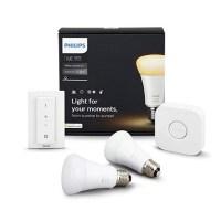 필립스 HUE 스타터킷 4.0 블루투스 화이트 앰비언스 LED 스마트조명 램프 2p + 브릿 + 스위치 세트 (TOP 319735442)