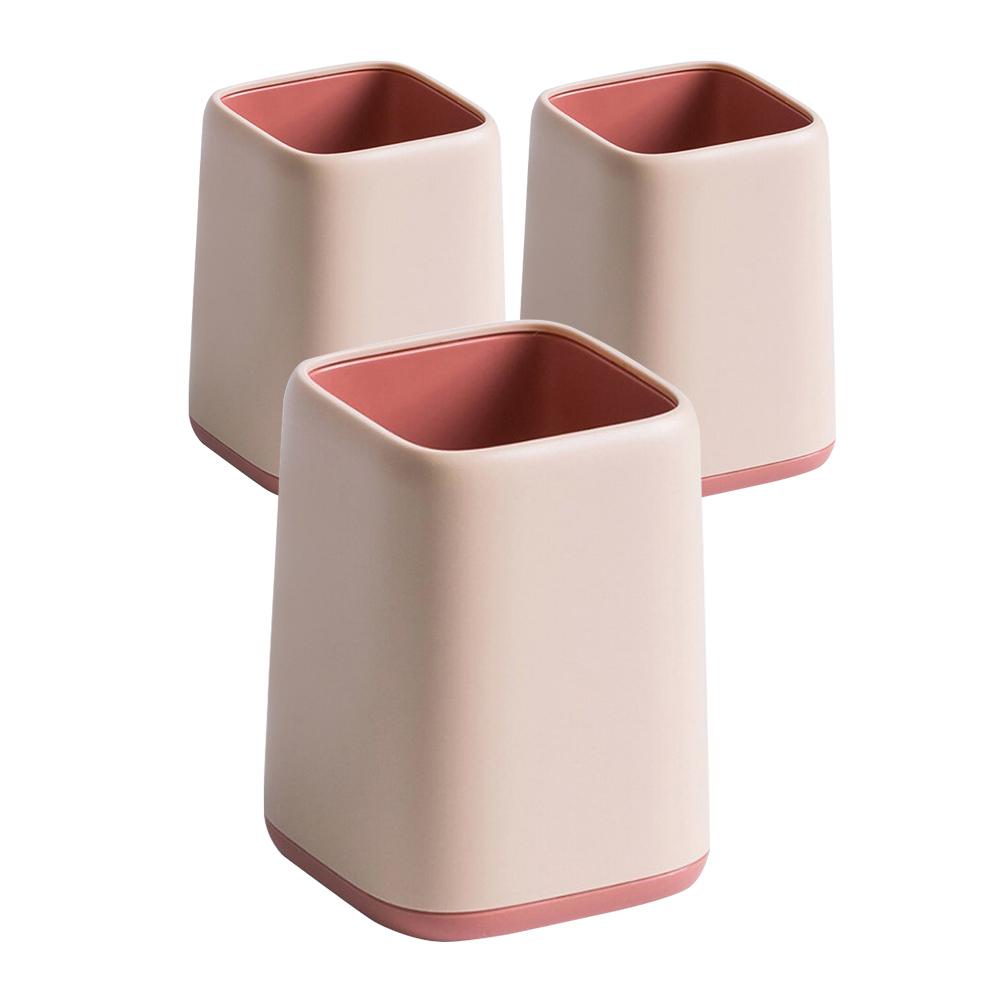 파스텔 무광 투톤 연필꽂이, 핑크, 3개