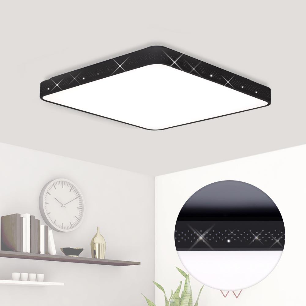 플랜룩스 이븐 슬림 LED방등 50W, 흑색