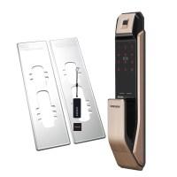 삼성SDS 지문인식 푸시풀 디지털 도어락 SHP-P71F + 보강판 2p (TOP 4776069357)