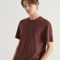 헤지스 남성용 퍼피자수 면 반팔 티셔츠 (TOP 5321139021)