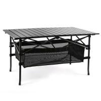 코멧 알루미늄 접이식 캠핑 테이블 대형 블랙 95x55x50cm (TOP 4702806339)