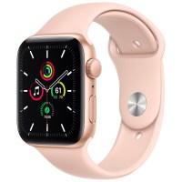 Apple 애플워치 SE, GPS, 골드 알루미늄 케이스, 핑크 샌드 스포츠 밴드 (POP 2128457892)
