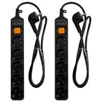 써지오 안전멀티탭 10A 블랙 5구접지 DH-2058NT, 5m, 2개입 (TOP 35837461)