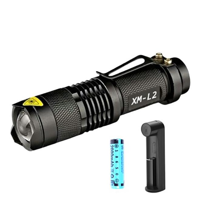 LEDLAB 줌랜턴 SK2000-L2 + 충전지 + 5핀1구충전거치대, 1세트