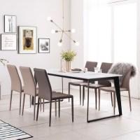 아놀드 화이트 포세린 통세라믹 6인용 식탁 세트 1800, 1800식탁+의자6개(색상:판매자 문의하기 기재) (TOP 1771963662)