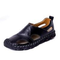 2021 토앤토 쪼리 플립플랍 여름 남성 남자 플랫 샌들 신발 패션 슬리퍼 여름 통기성 정품 가죽 플러스 사이즈 패션 캐주얼 비치 신발 (TOP 5844907104)
