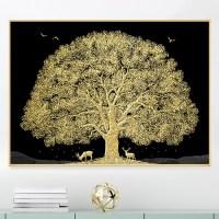 디데코 돈들어오는 황금 돈나무 인테리어 집들이 개업 선물 풍수 그림 액자, 황금돈나무(사슴) (TOP 5072725379)