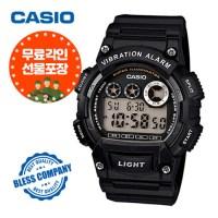 [블레스컴퍼니] 카시오 (무료각인) 군인 전자시계 W-735H-1A 진동알람 (TOP 115585947)