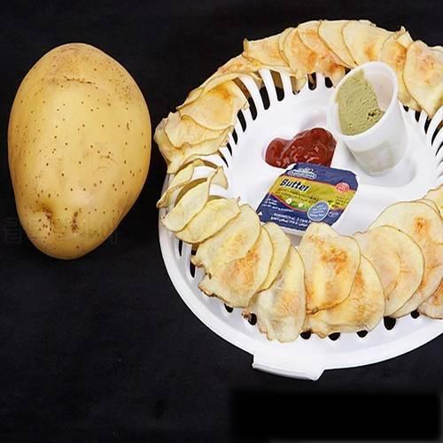 전자 레인지 감자 칩 제조기 랙 DIY 지방질 자유로운 낮은 열량 베이킹 과자