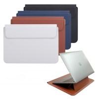 헤이맨 노트북 스탠드 가죽 파우치 맥북 삼성 노트북 갤럭시북 LG그램, 브라운 (TOP 4900257764)