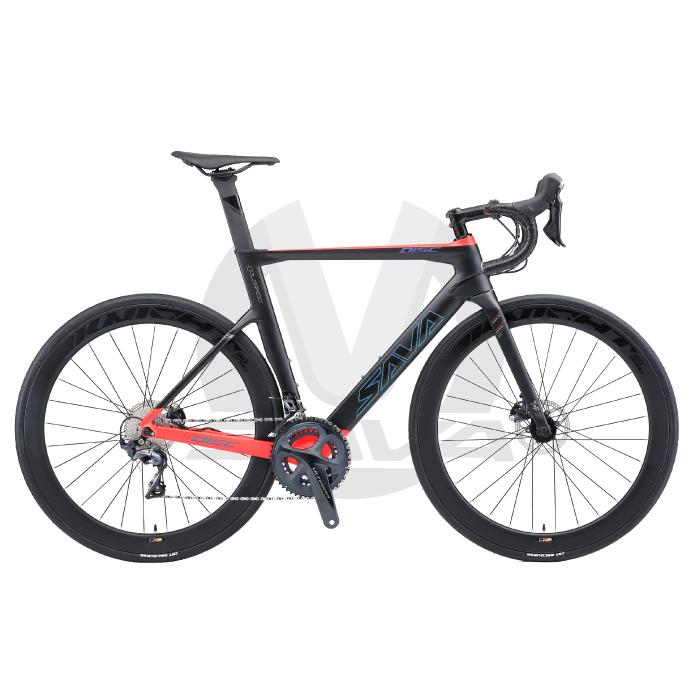 사바(SAVA) SAVA 카본 로드 자전거 콜로라도 8F R8000(풀 시마노 울테그라), Matte Black-Red_540(L)