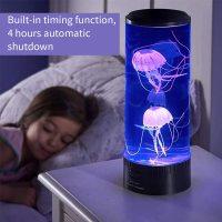 야간 조명 해파리 탱크 수족관 전기 Led 색상 변경 3d 램프 분위기 용암 어린이 선물 장식 참신, 01 큰 (TOP 5616964261)
