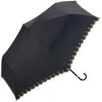 월드 파티 (Wpc) 양산 접는 우산 블랙 검정 50cm 여성 우산 봉투 포함 차광 별 무늬 부채 미니 801-972 B (TOP 232776348)