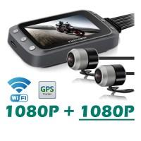 GreenYi 2채널 바이크  풀HD 방수 루프레코딩 M20, 1080P-1080P WIFI 버전 (TOP 4506841116)