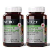 인테로 비타민B 컴플렉스 고함량 복합 비타민B군 영양제 캐나다, 2박스, 90정 (TOP 1748537717)