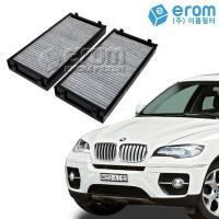 이롬필터 수입 자동차 에어컨필터 카본필터, 1개, BMW X6시리즈(F16/E72/E71)에어컨필터 외부용/08~14/CUK2941-2 (TOP 266815254)