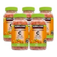 커클랜드 [5개 SET] 성인 비타민C 250mg 180정 (구미) Kirkland Adult Gummies Vitamin C (180 Gummies), 1개 (TOP 264488870)