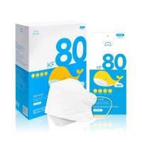 바이오 셀프케어 KF80 마스크 소형 화이트 (유아/어린이용) 50매x1박스, 바이오셀프케어/KF80/소형/화이트/50매 (TOP 5279573456)