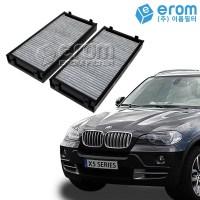 이롬필터 수입 자동차 에어컨필터 카본필터, 1개, BMW X5시리즈(E70/F15) 에어컨필터 외부용(06~)/CUK2941-2 (TOP 266815254)
