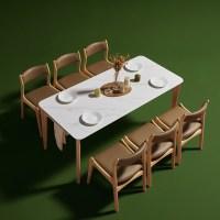 보니애가구 고메즈 천연 포셀린 통세라믹 12T 6인 식탁세트, 6인 테이블단품, 월넛 (TOP 4632518669)