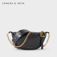 CHARLES & KEITH retro waist bag CK2-80150954-1 레이디 체인 숄더 메신저 백 허리 가방 (TOP 2196977538)