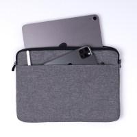 헤이맨 삼성 노트북 플러스2 15인치 블랙라인 극세사 포켓 노트북 파우치, 다크그레이 (TOP 4758303696)