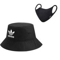 아디다스 AC BUCKET HAT 버켓햇 패션모자 + 패션마스크, Black (POP 5387283192)