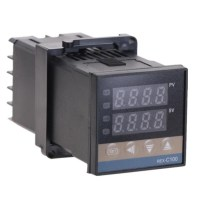 100-240VAC PID REX-C100 온도 컨트롤러 범위 0 900C SSR40A K 열전대 PID 컨트롤러 세트 방열판, RKC-C100 (TOP 5582371239)