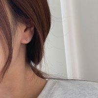 투에이치 변색없는 써지컬스틸 미니 하트 심플 딱붙는 귀걸이 (TOP 5166568842)