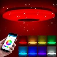 음악은 천장 빛 램프 36-60W RGB에 의하여 묻힌 산 둥근 별빛 음악 연한 색 Bluetooth 스피커를 가진 변화 빛을지도했습니다, 36cm 60w, 협력사 (TOP 5540708886)