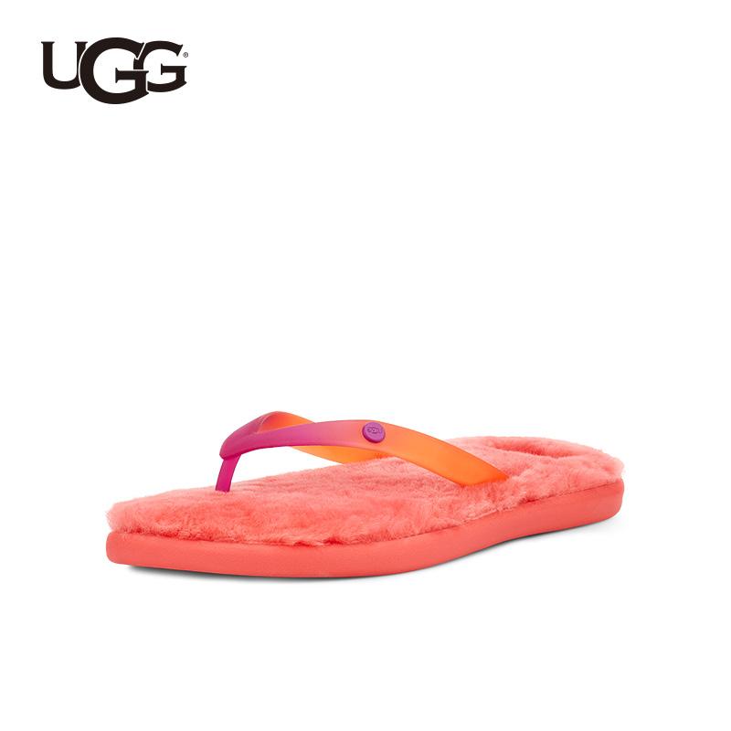 하이킹영 UGG 봄계절 여성 슬리퍼 겹발비치 캐쥬얼 털이 더부룩함 스윗 A형 퍼슬리퍼